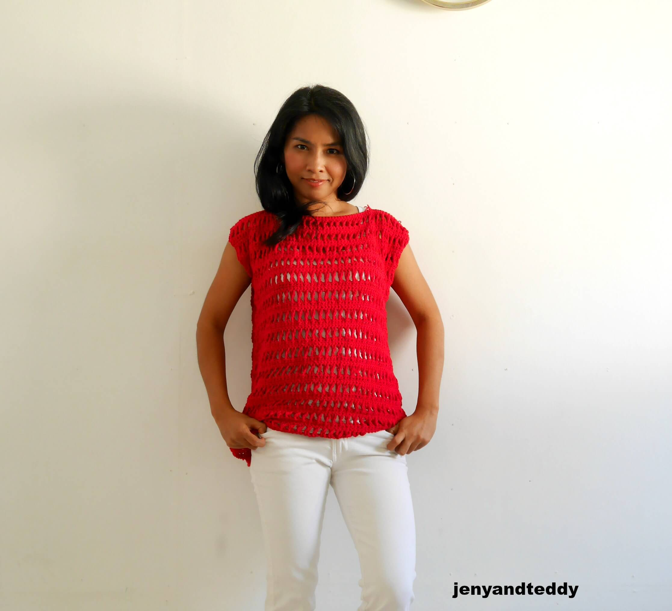 easy summer crochet top by jennyandteddy