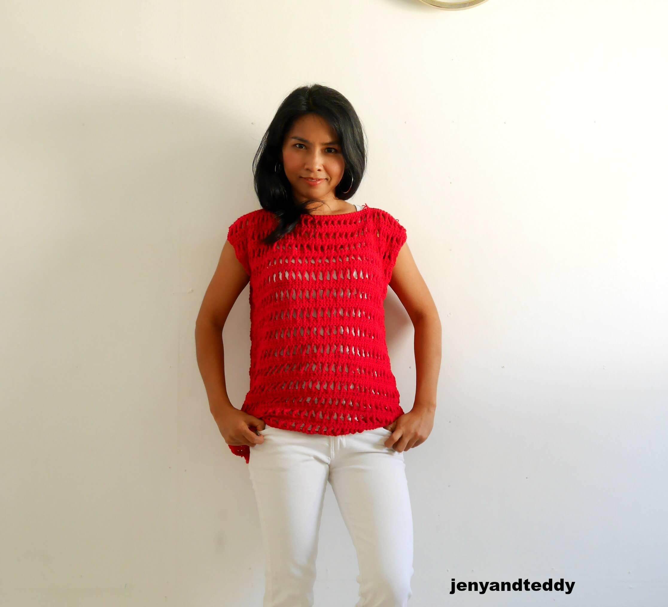 easy summer crochet top by jennyandteddy