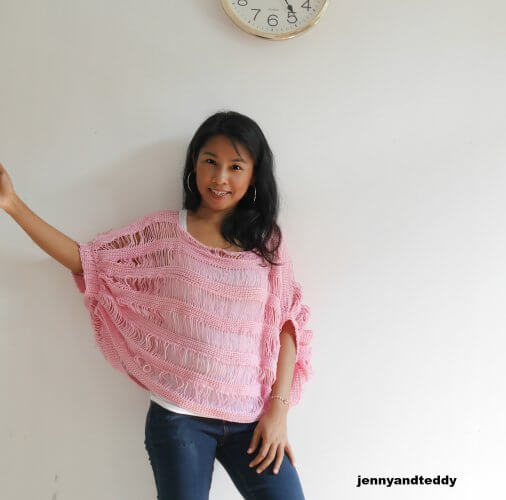 easy summer crochet top free pattern made from 2 rectangle