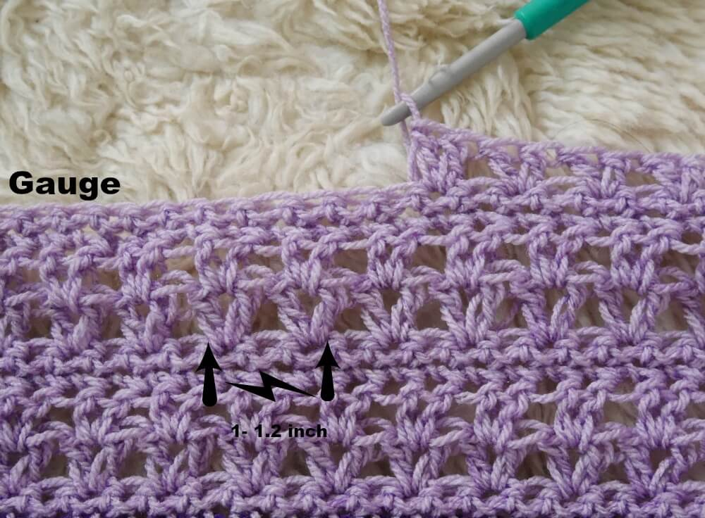 gauuge easy crochet vstitch