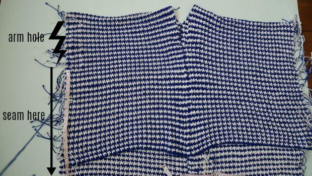 houndstooth crochet bohemiean style poncho easy tutorial by jennyandteddy begiiner friendly