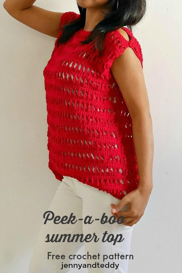peek a boo summer crochet top eay for beginner bby jennyandteddy