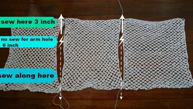 cotton lacy summer vest free crochet pattern by jennyandteddy1