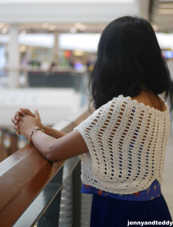 easy as pie crochet shrug borelo free pattern beginner friendly by jennyandteddy