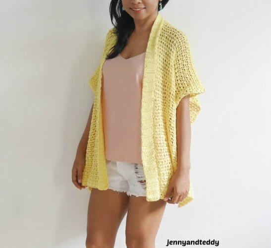 1beginner crochet summer kimono cardigan by jennyandteddy