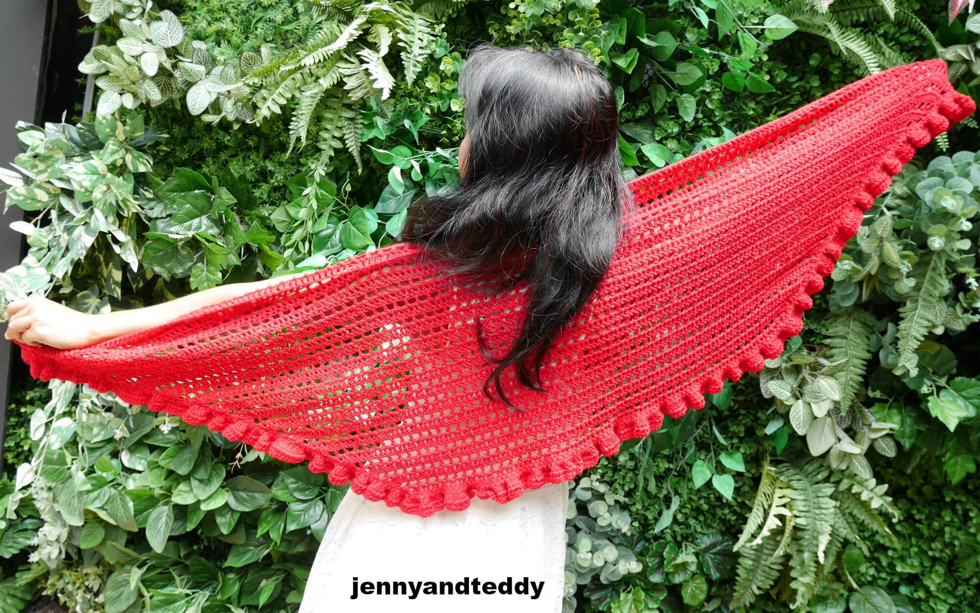 beginner date night raffle shawl free crochet pattern