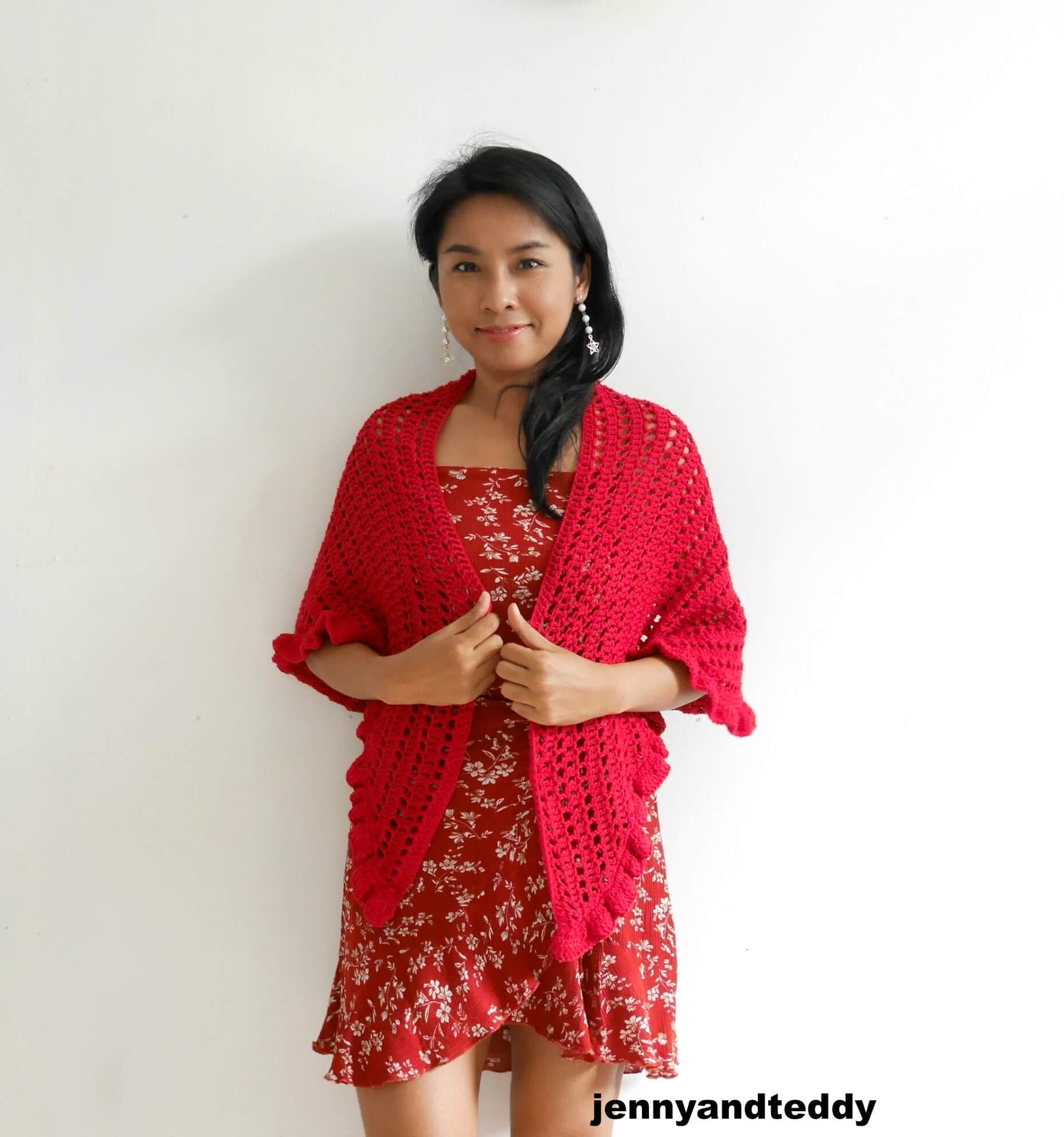 beginner raffle crochet wrap shawl