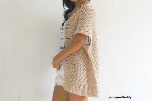 cotton summer vacation kimono cardigan free pattern and tutorial