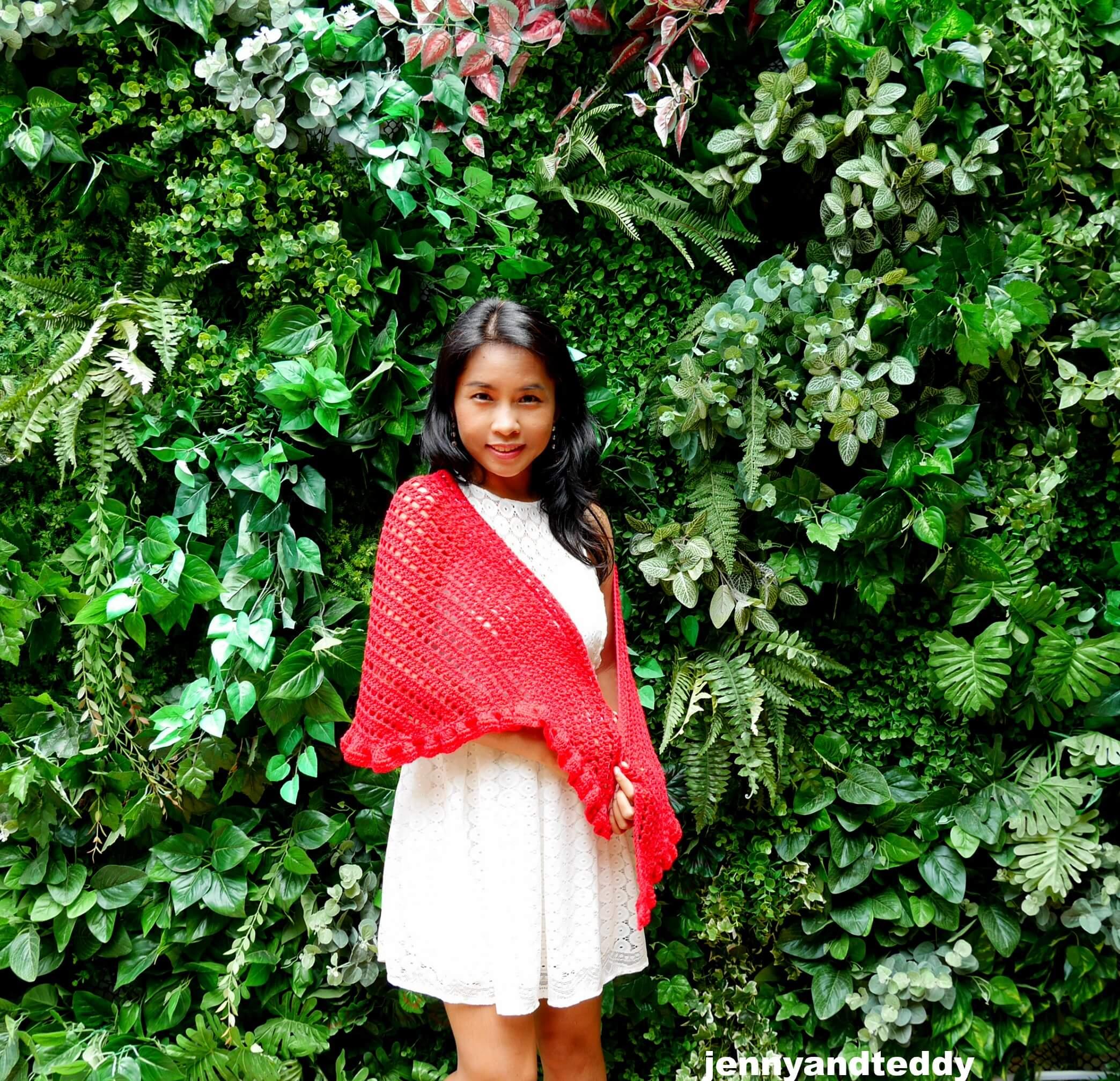 date night raffle shawl free crochet pattern