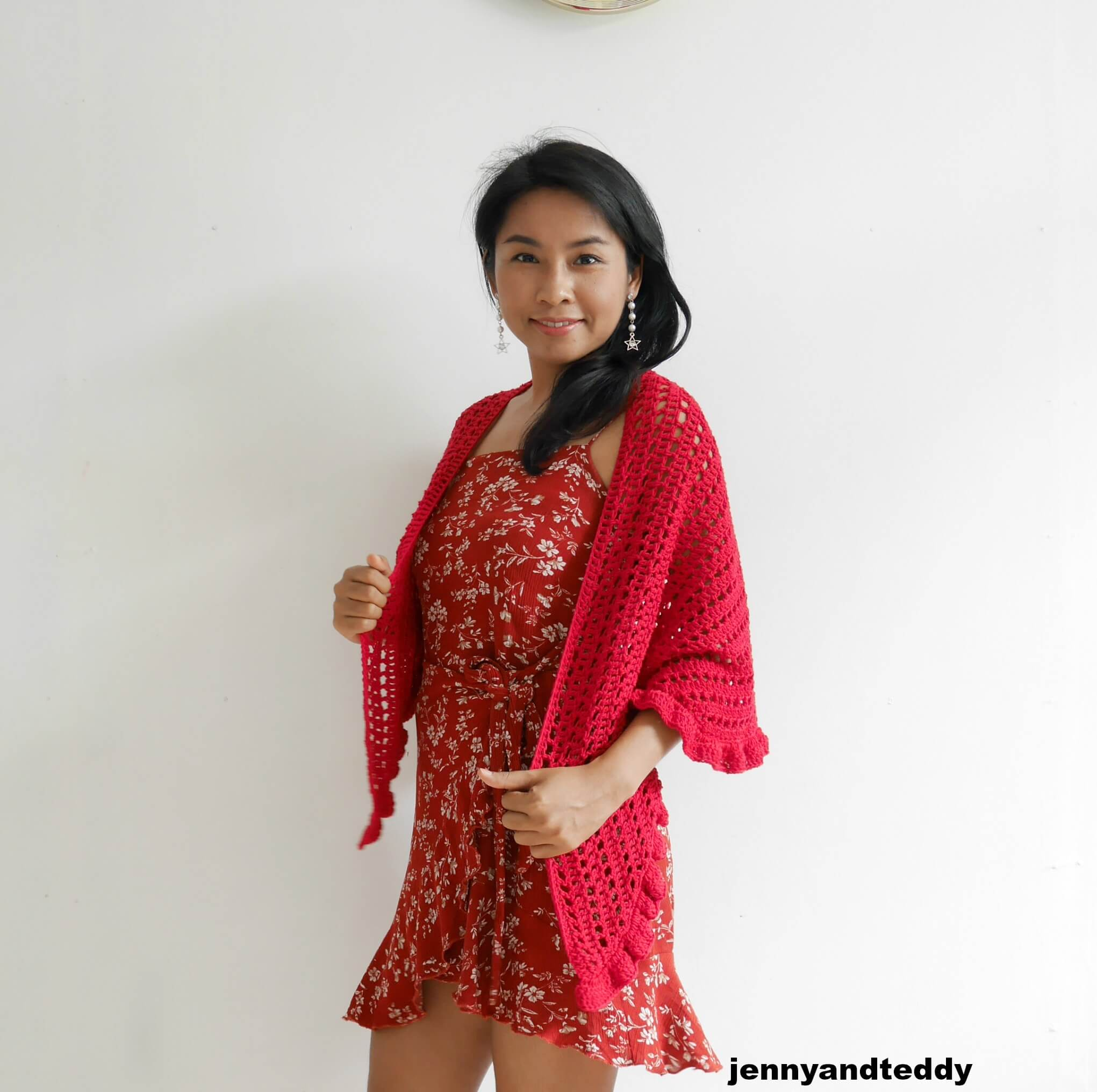 date night raffle wrap free crochet pattern