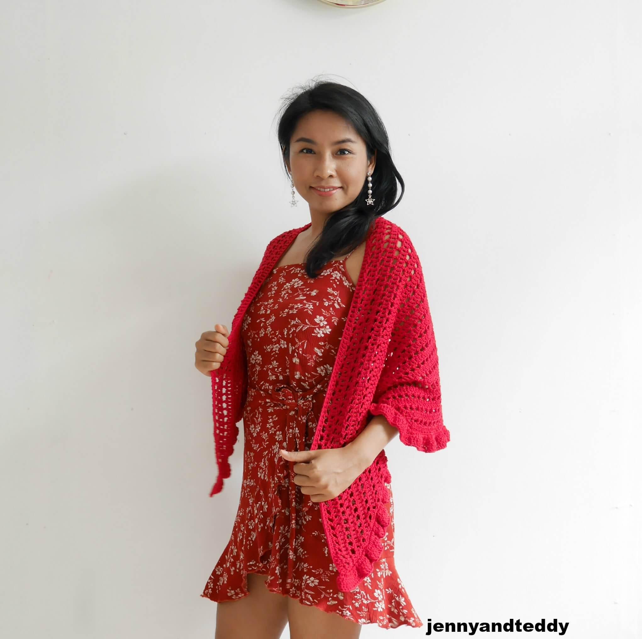 date night raffle wrap free crochet pattern