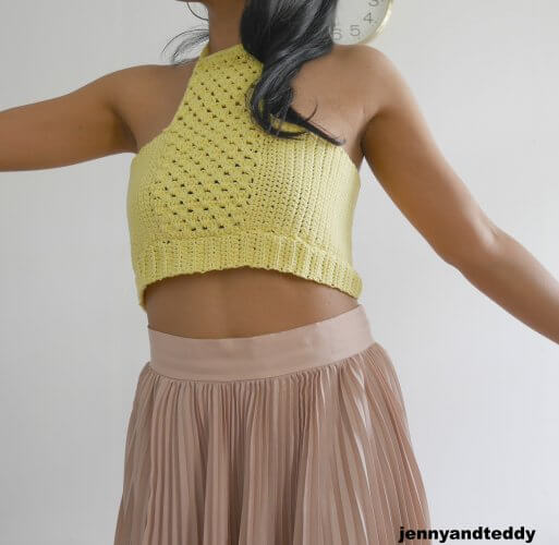free crochet crop top tutorial