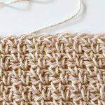 crochet linin /moss stitch tutorial