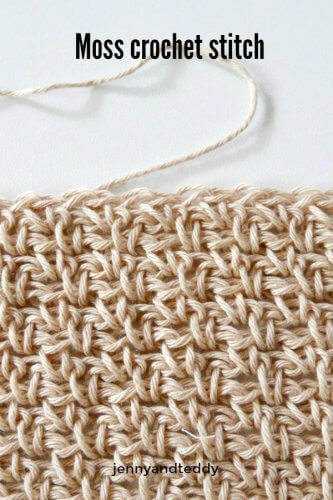 moss stitch crochet tutorial beginner friendy by jenyyandteddy