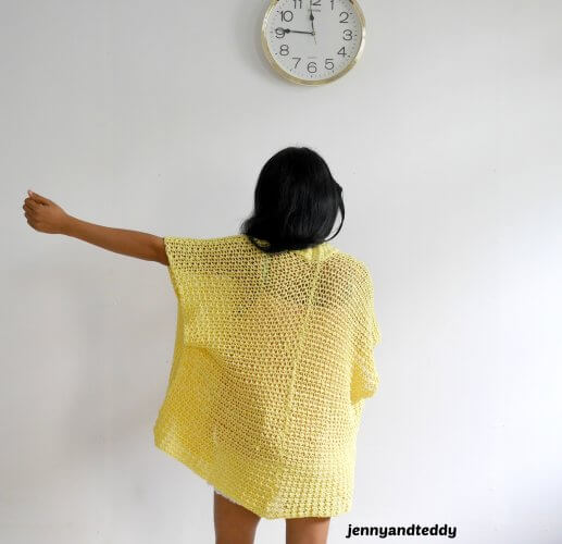 summer cottony lemonade carigan crochet kimono free pattern beginner