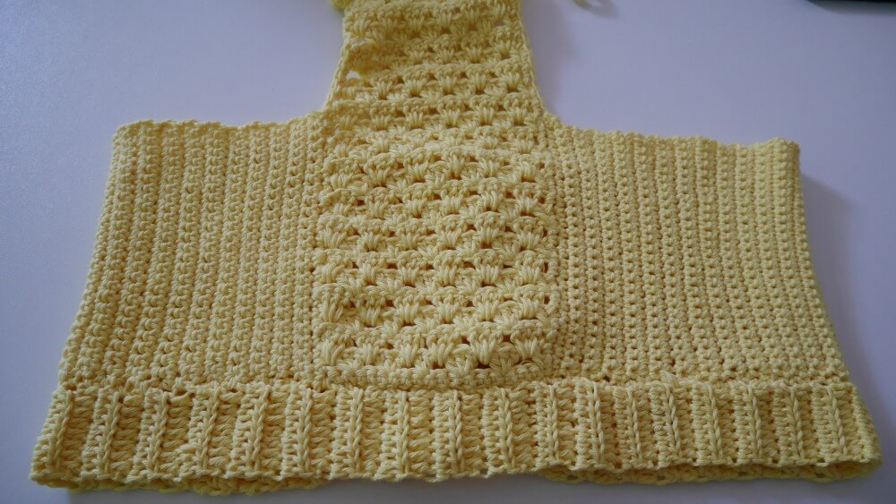 Lemonade Crop Top Free Crochet Pattern