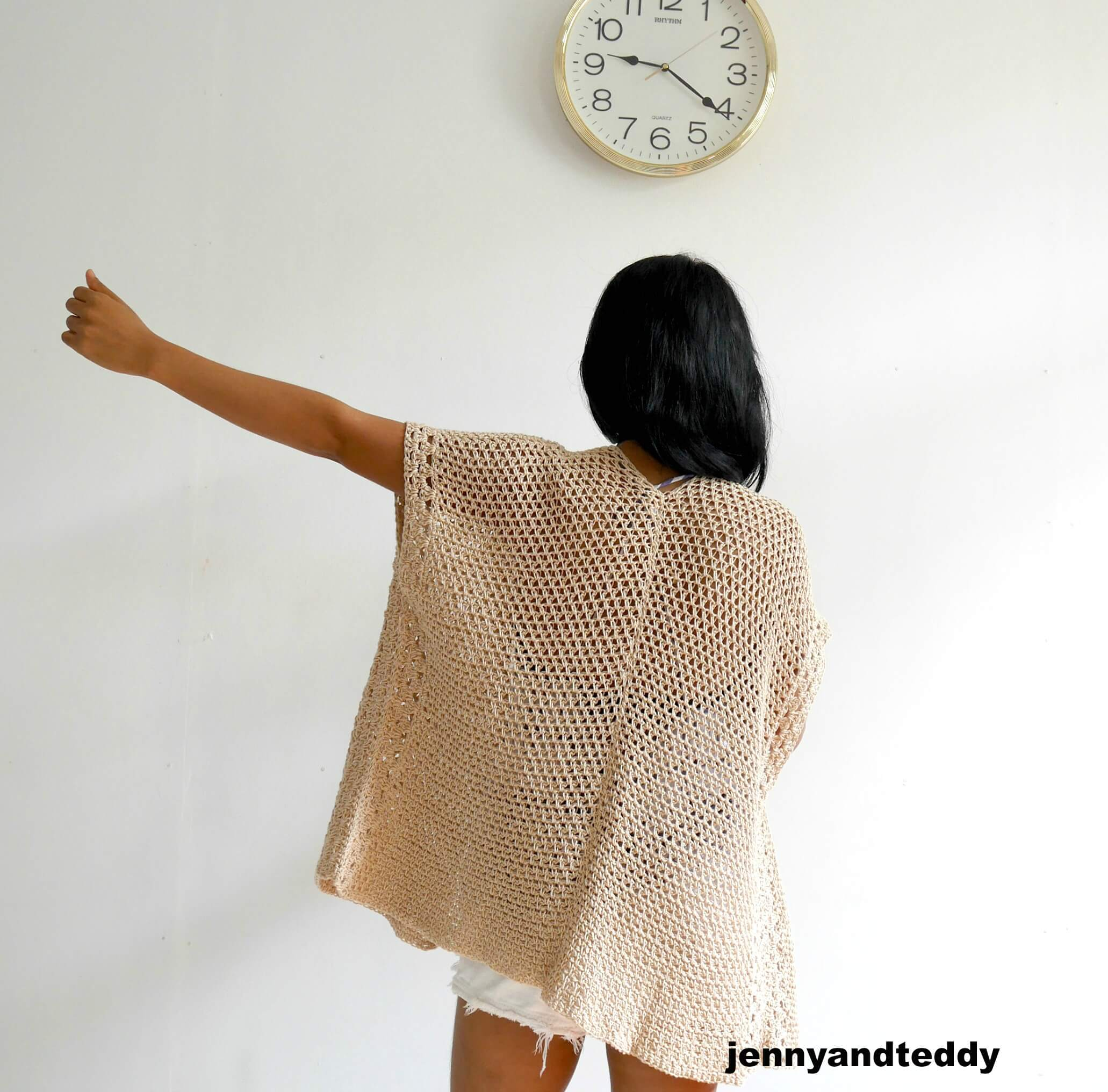 the vacation cardigan free crochet pattern beginner friendly1