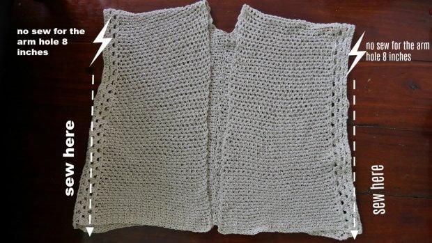 the vacation summer cardigan free crochet pattern beginner friendly