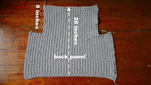 back panel crochet vest