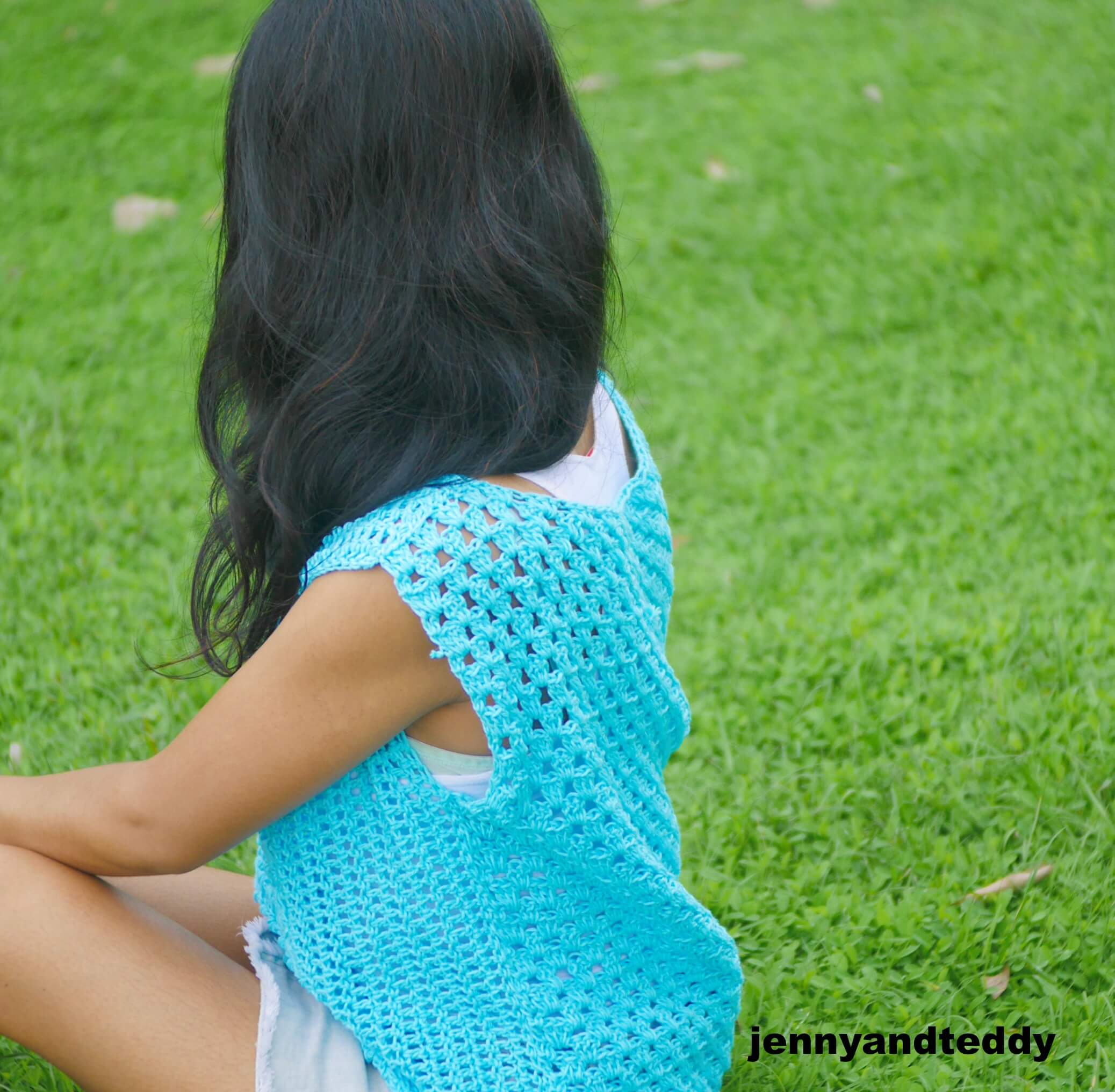 cotton summer crochet top easy
