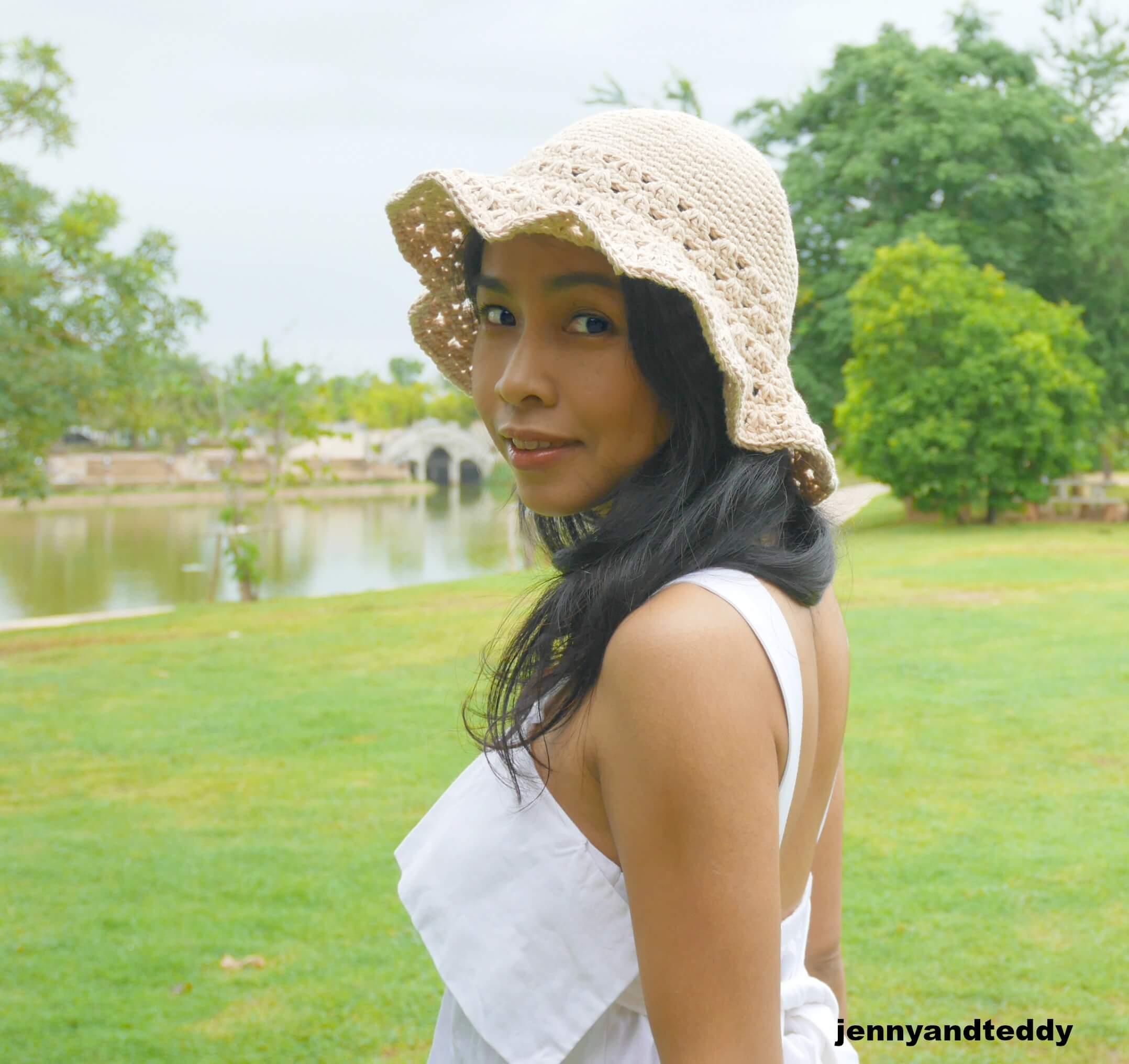 easy beginner crochet sun hat free pattern by jennyandteddy