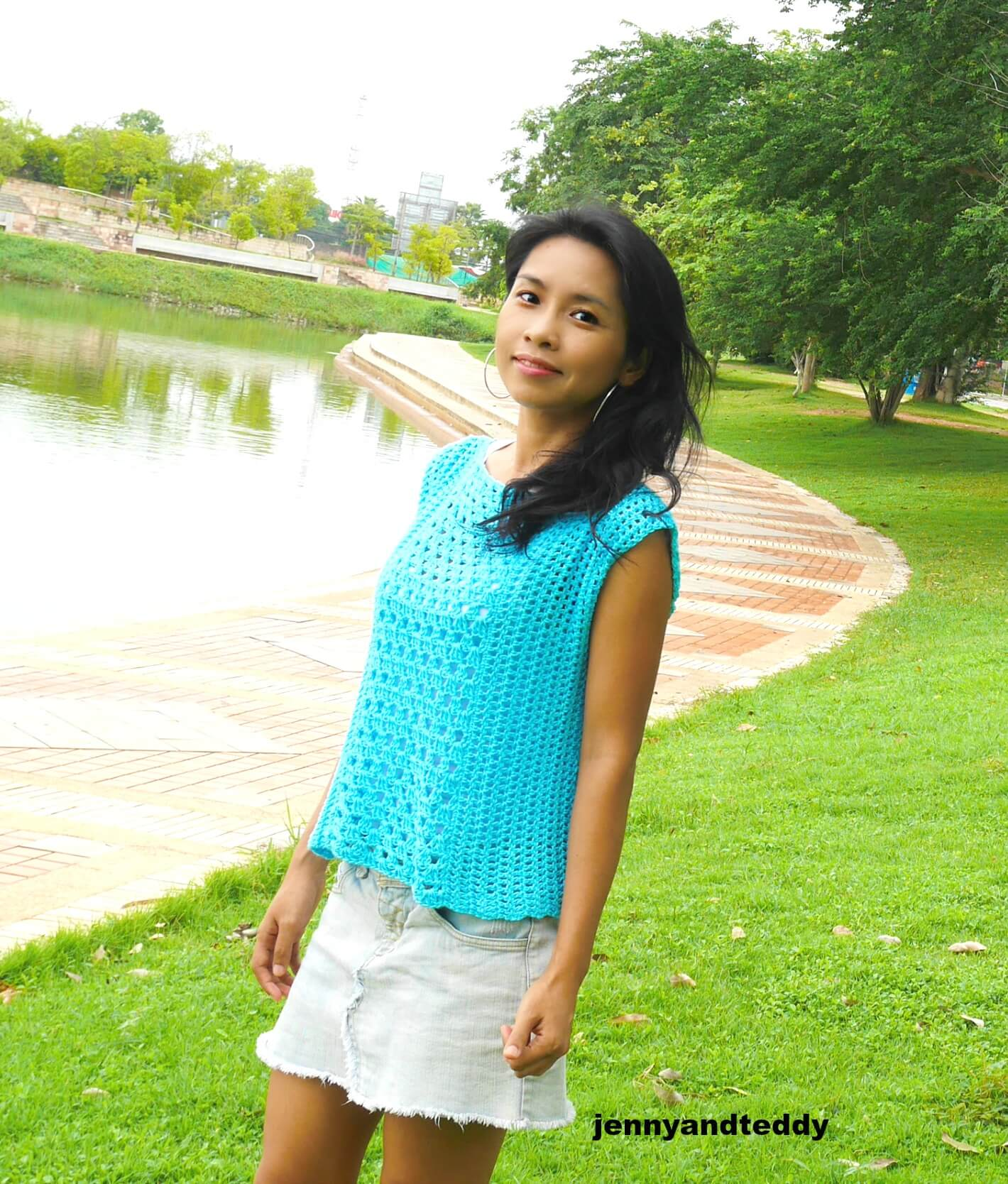 easy crochet summer top tee