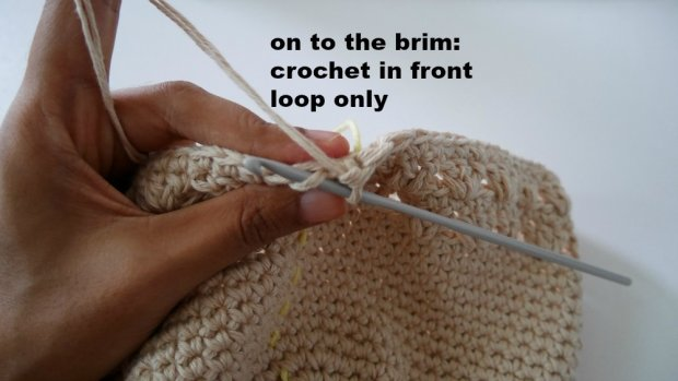 making brim sun hat crochet