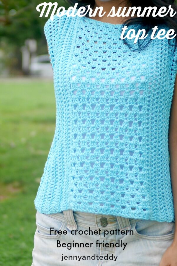 Modern Summer Top Tee Free Crochet Pattern