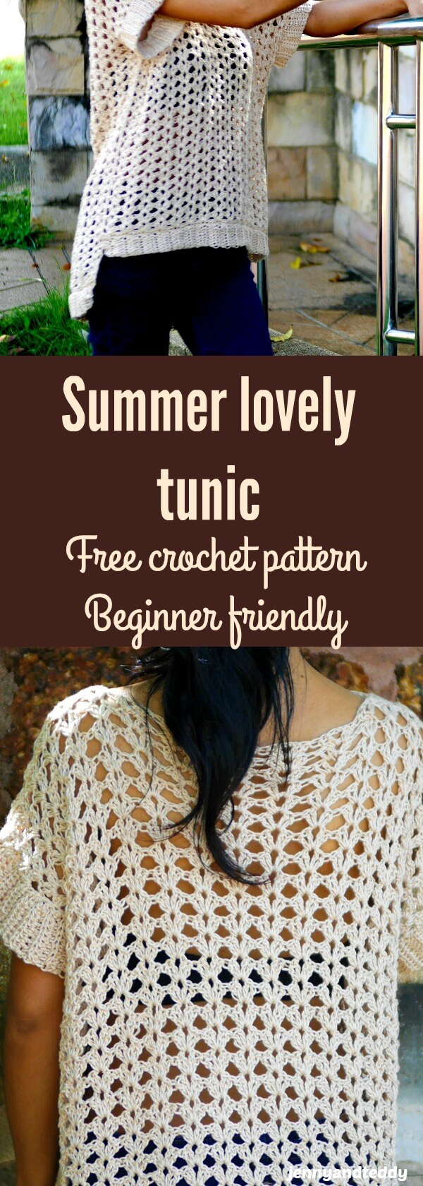 easy summer tunic free crochet pattern by jennyandteddy