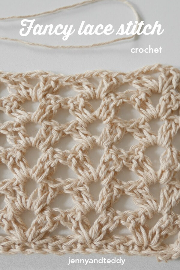 fancy lace crochet stitch by jennyandteddy easy beginner friendly