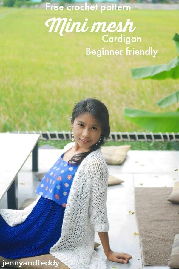 mini mesh 1cardigan beginner friendly