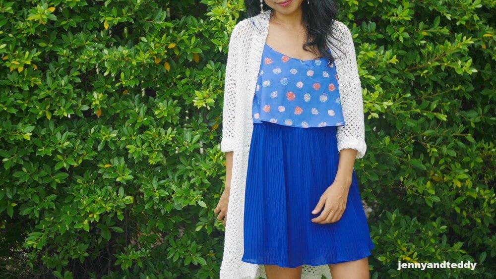 mini mesh crochet cardigan beginner free pattern