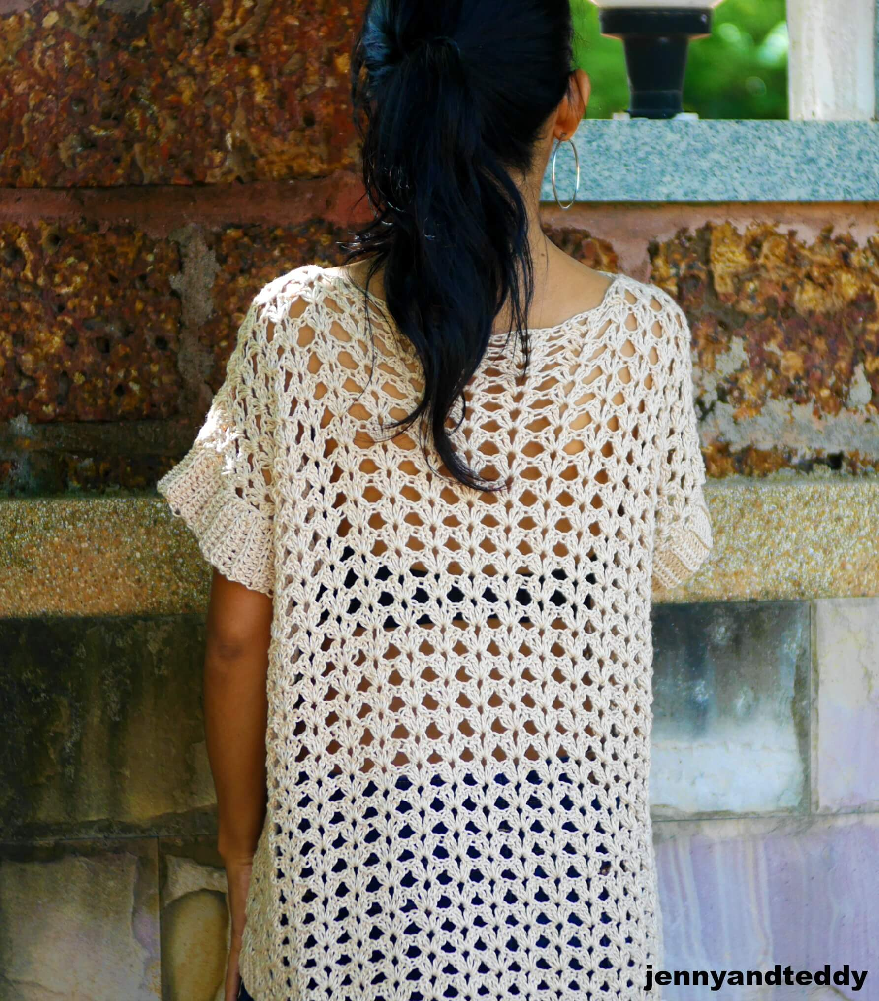 summer beach cover uo tunic free easy crochet pattern