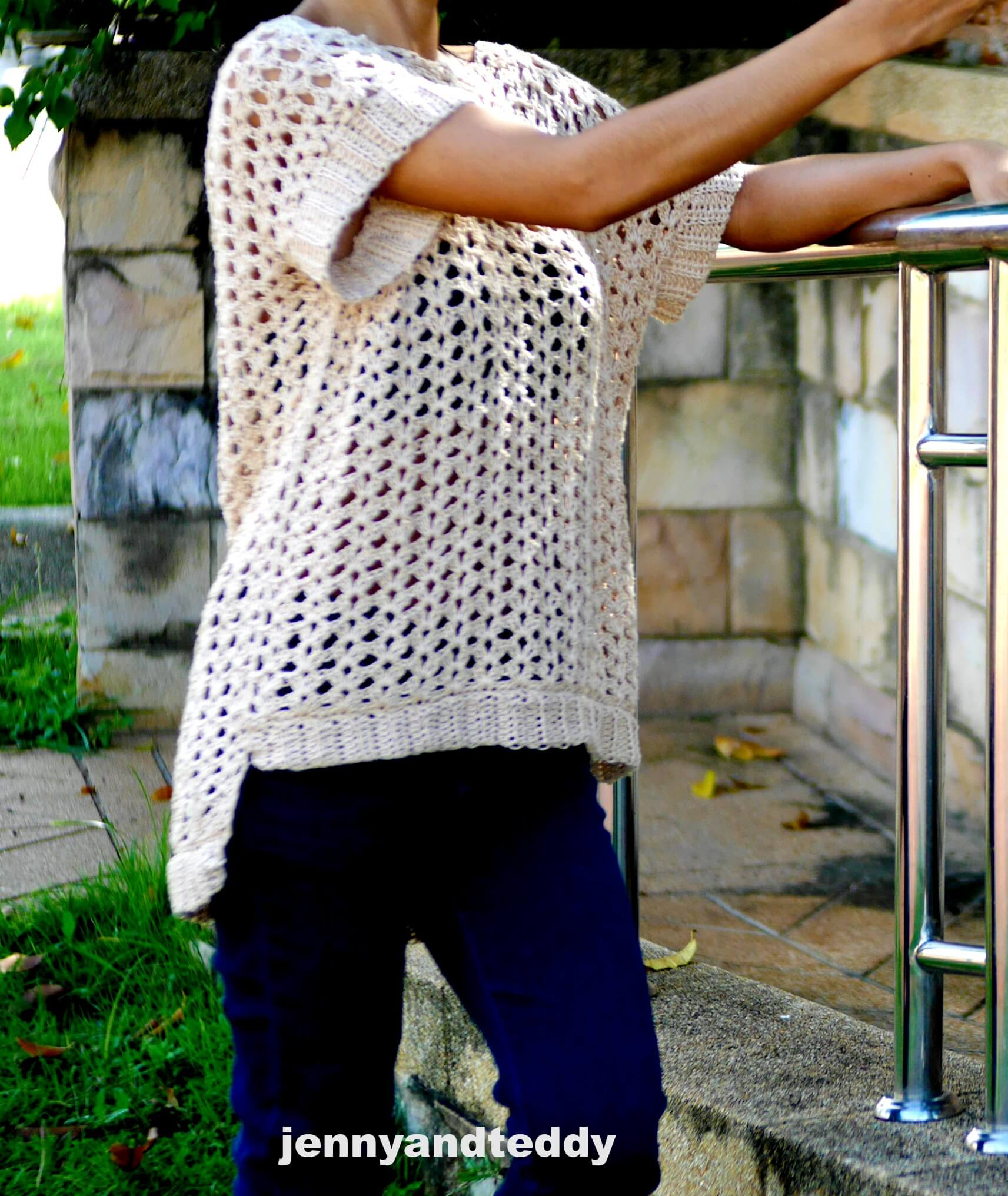 summer lovely easy tunic free crochet pattern beginner friendly by jennyandteddy