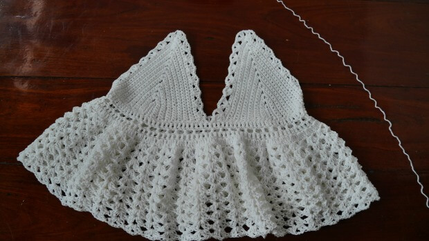 Dolly Ruffle Top Free Crochet Pattern