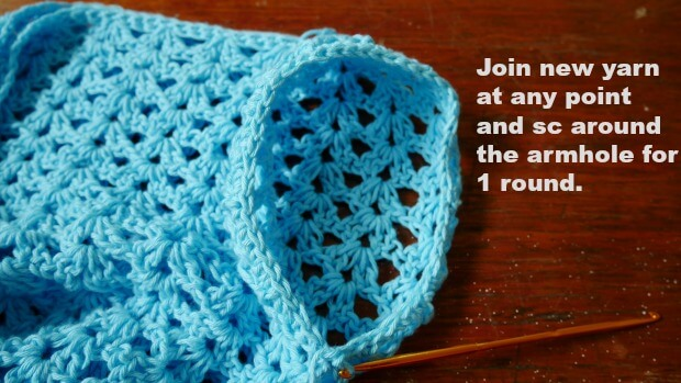 add the bell sleeve crochet