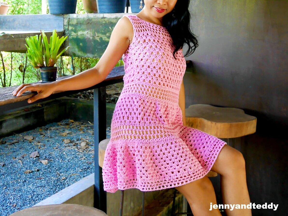 crochet dress use granny crochet stitch