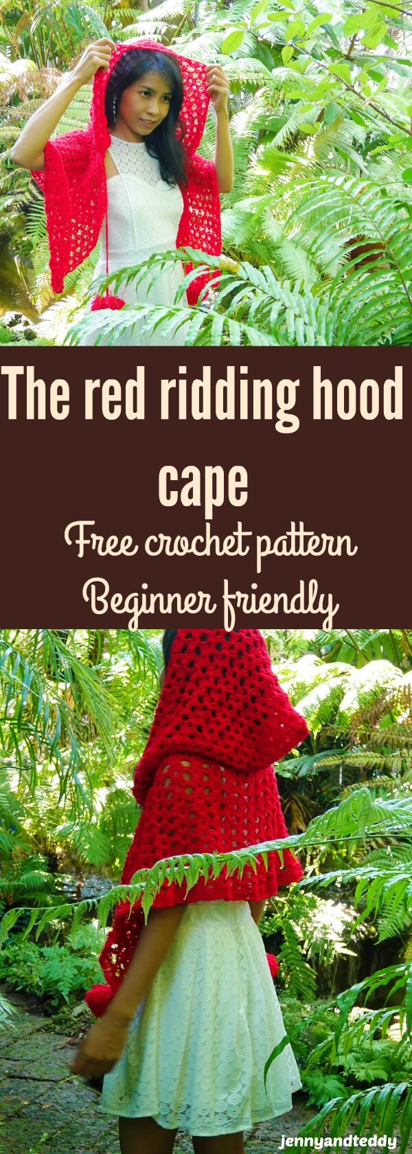 The Red Ridding Hood Crochet Cape Free Pattern