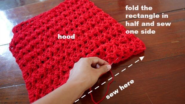 easy crochet hooded cape