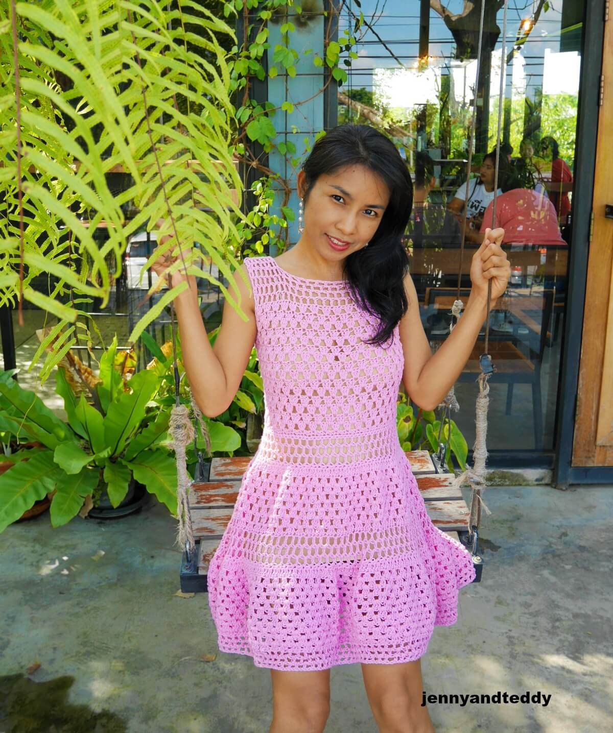 easy crochet mini dress free pattern and tutorial