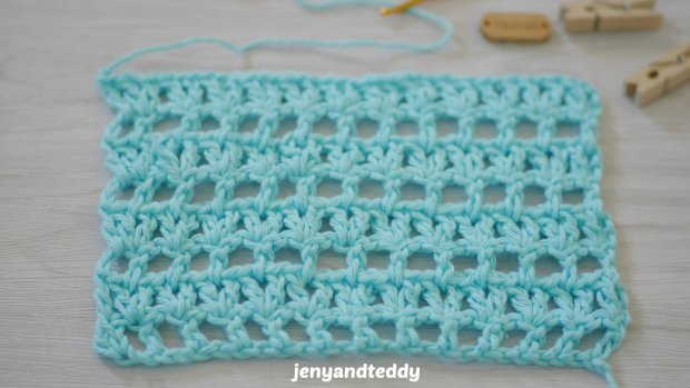 easy crochet v stitch filet net tutorial