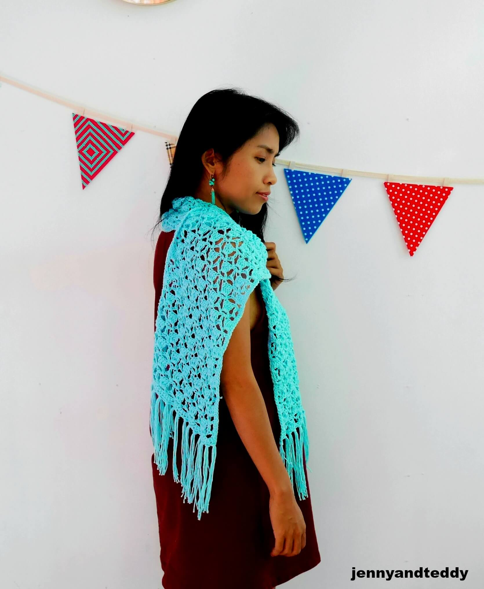 crochet scarf use fancy lace crochet stitch