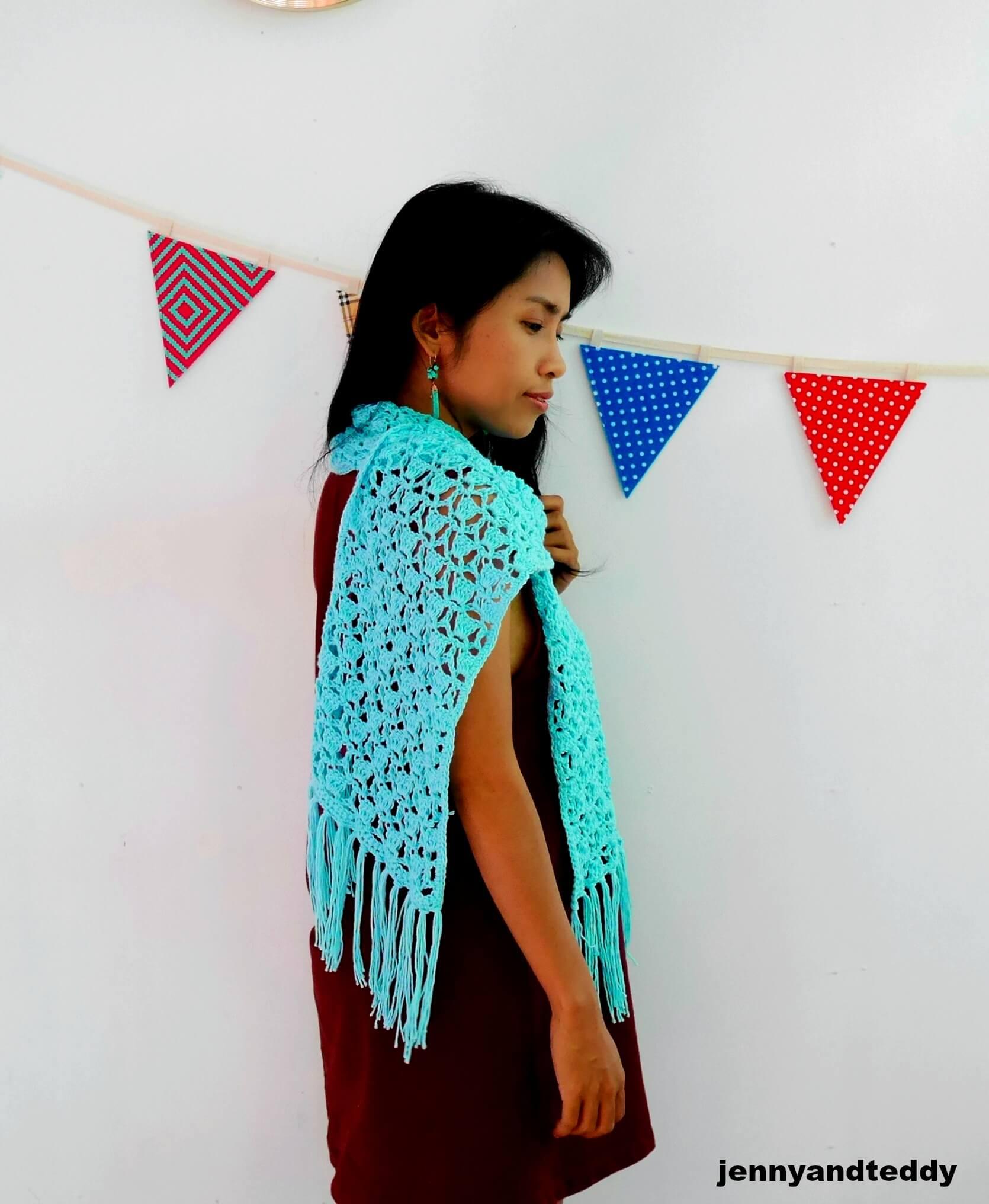 crochet scarf use fancy lace crochet stitch