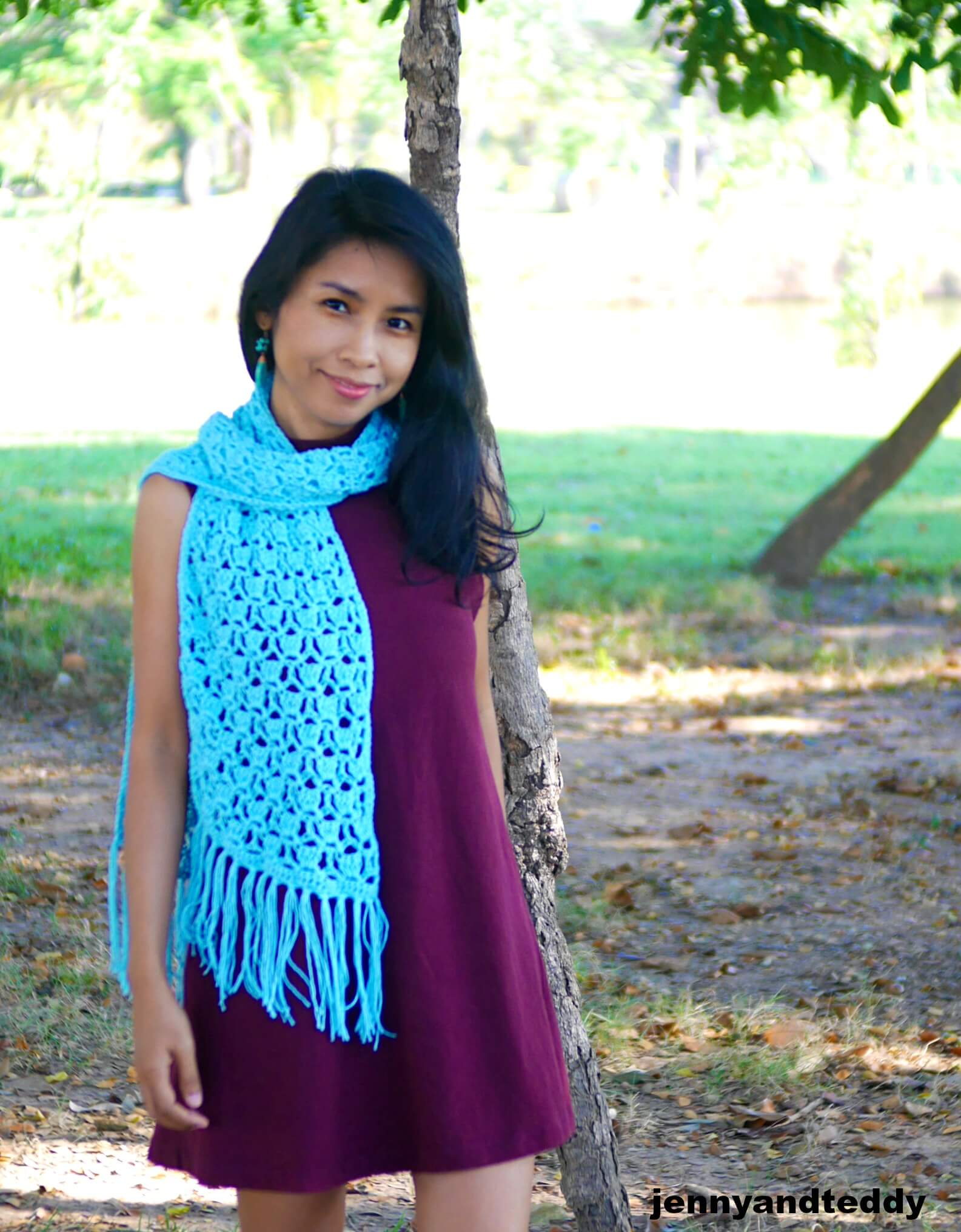 easy quick crochet scarf free pattern