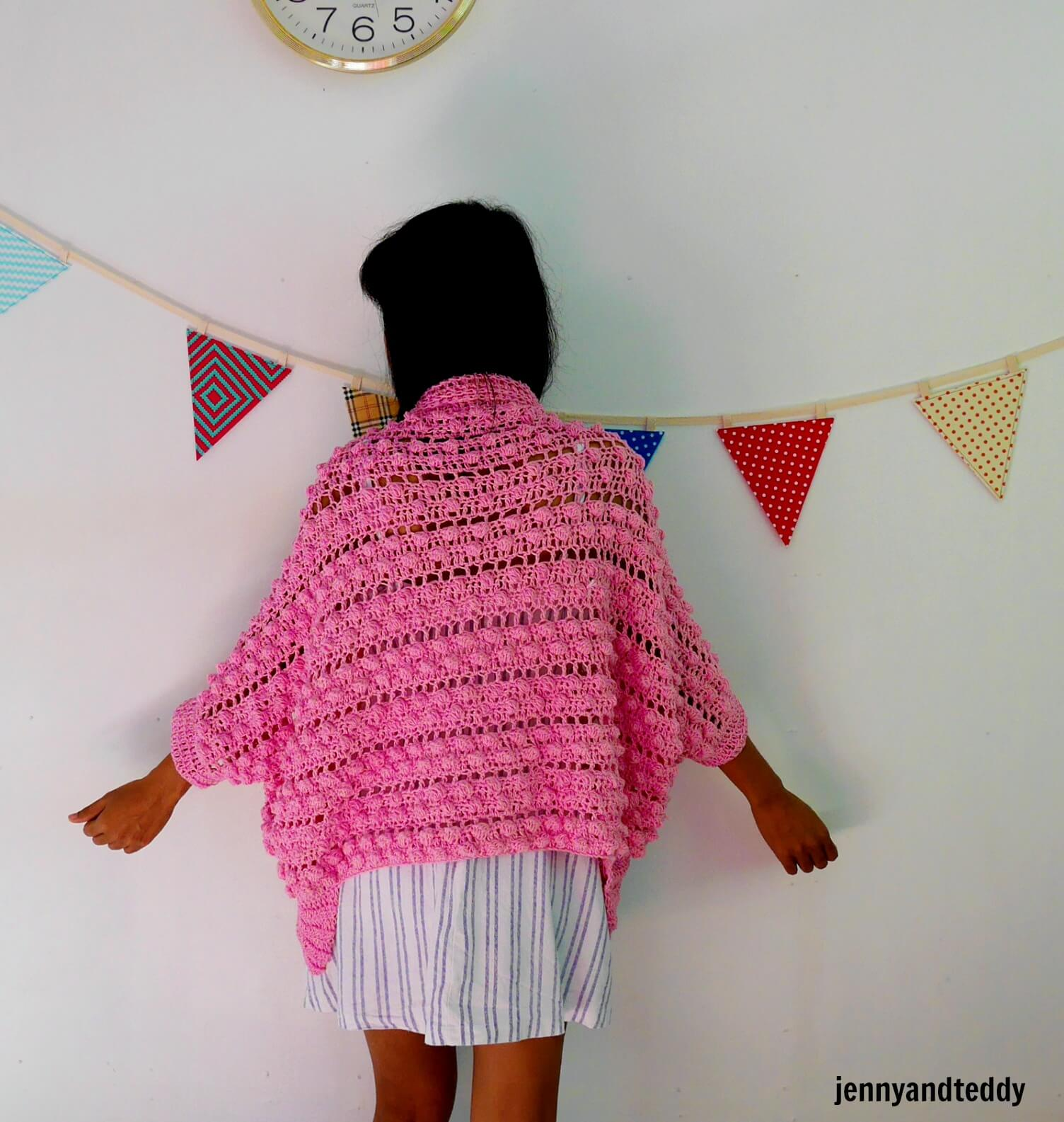bobble stitch crochet cardigan