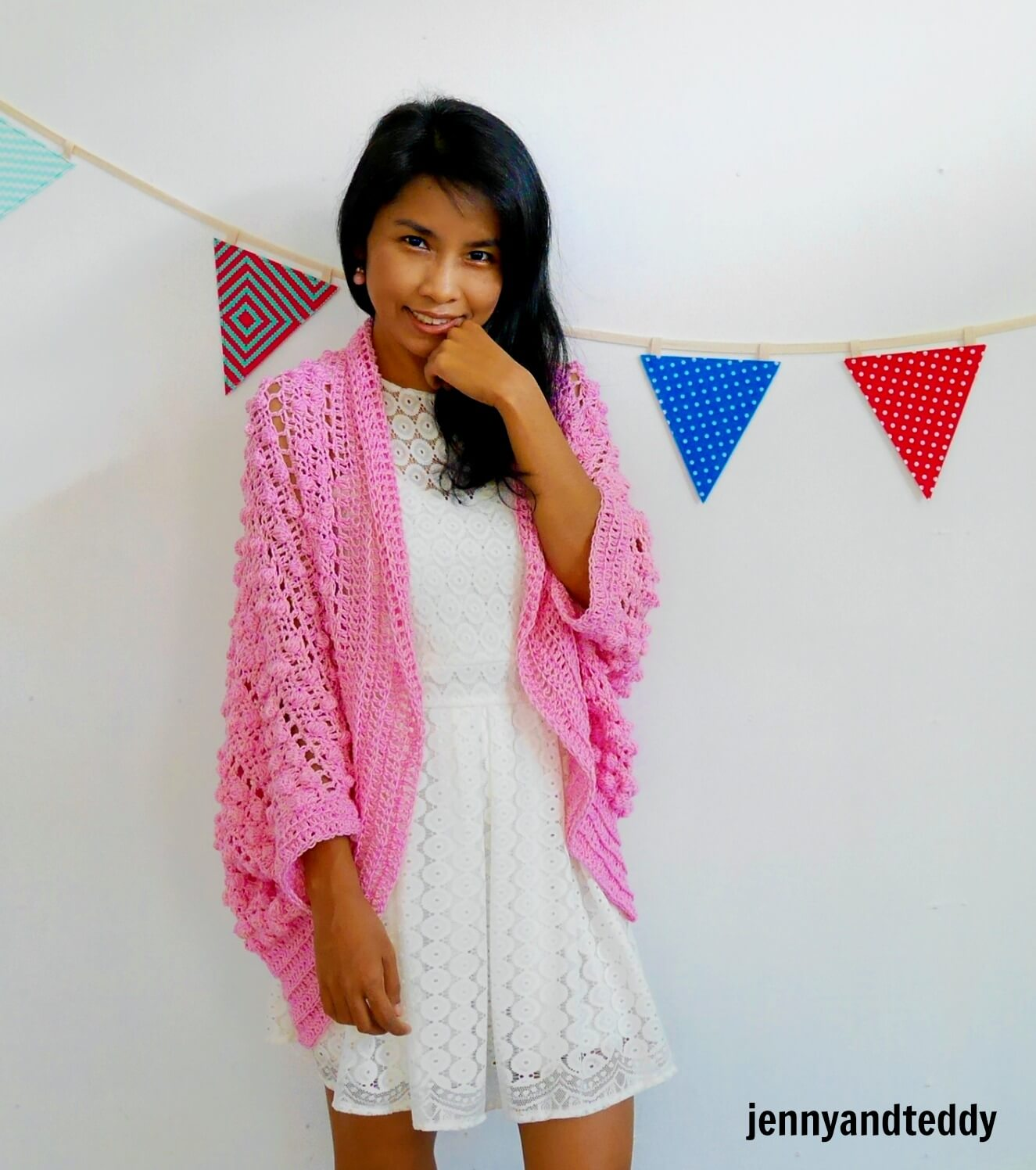 easy blanket cardigan bobble stitches