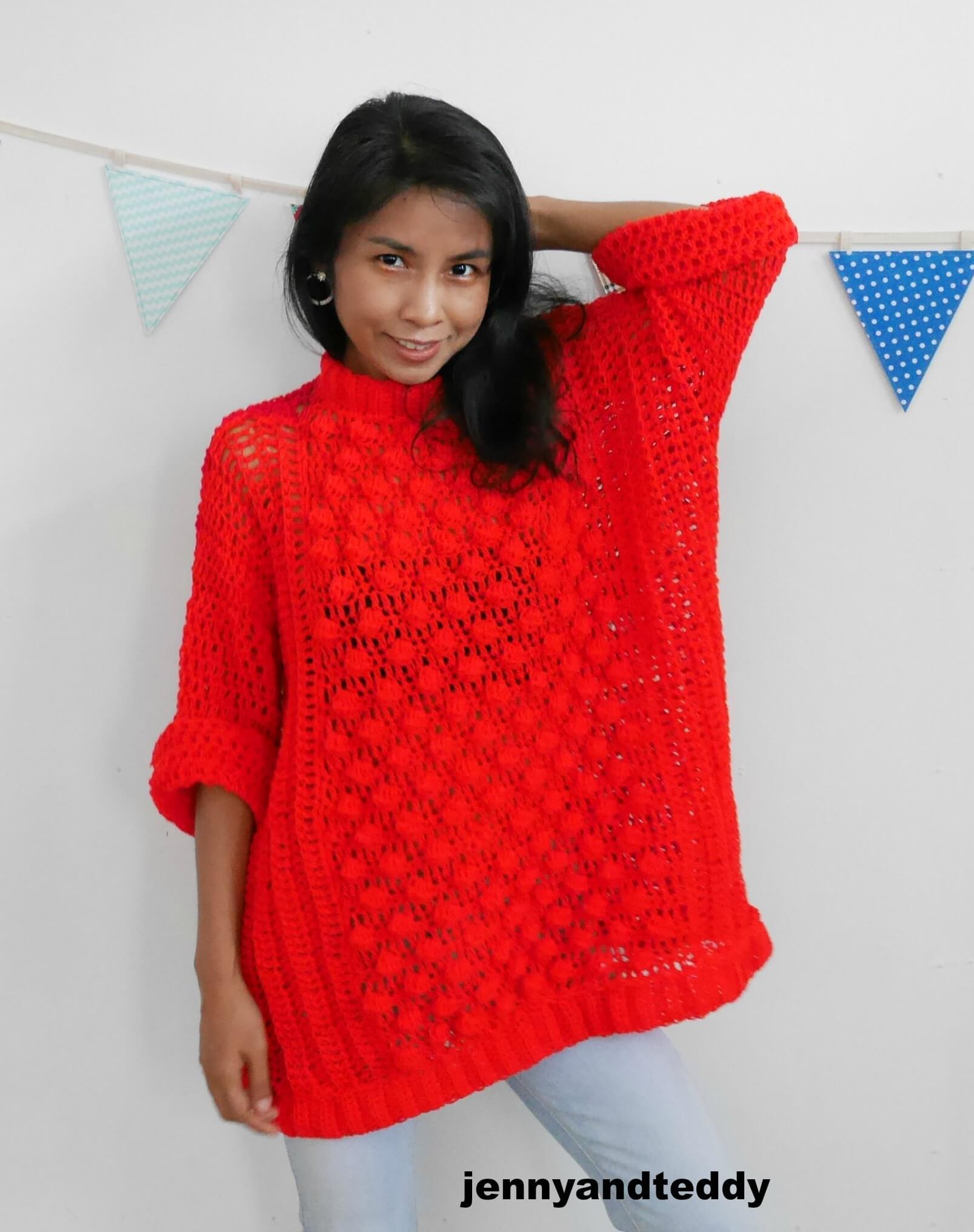 crochet sweater useing bobble stitch