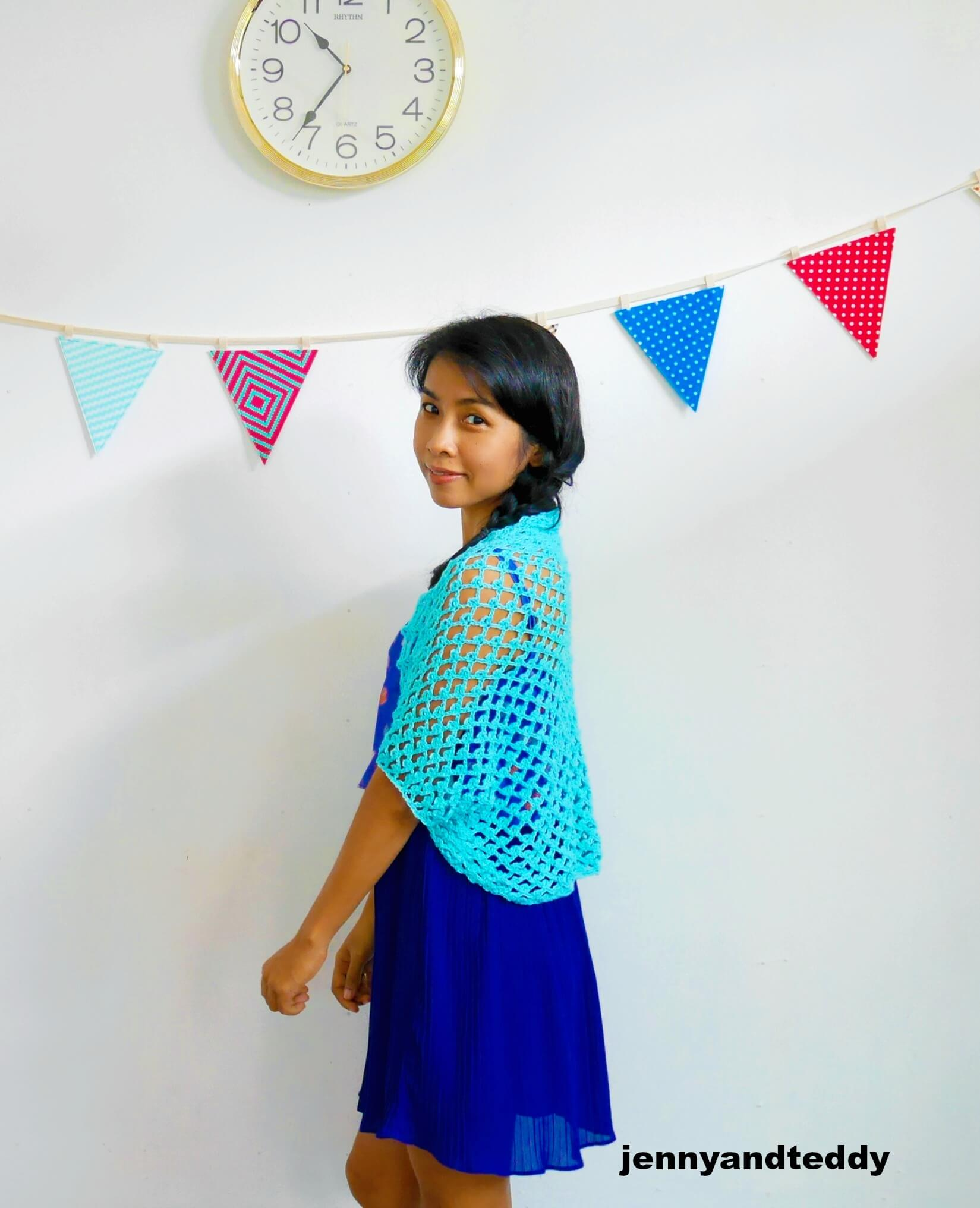 Love at first sight crochet shrug free pattern