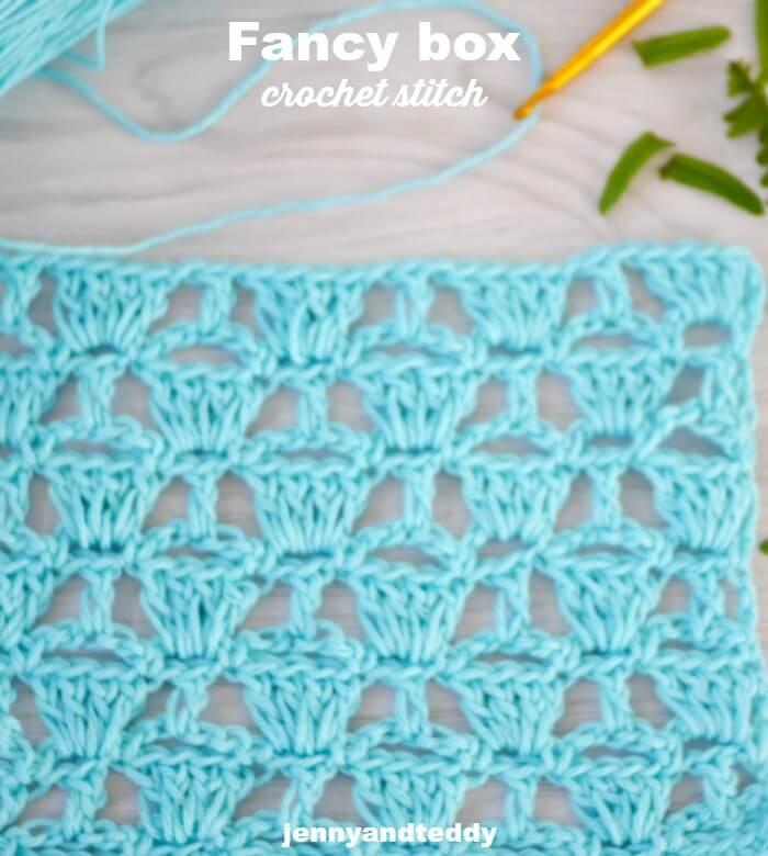 crochet fancy lace box stitch