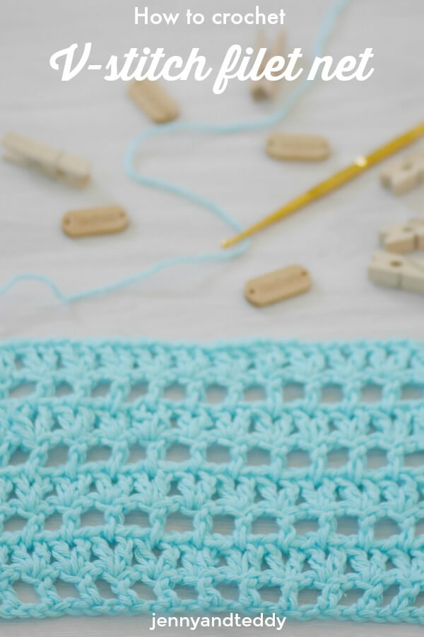 how to crochet easy v stitch filet net